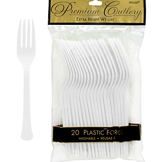 Fork 20ct Frosty White