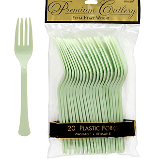Fork 20ct Leaf Green