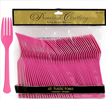 Fork 48ct Bright Pink