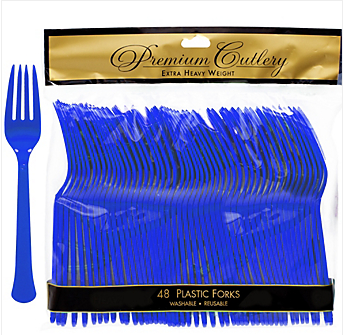 Fork 48ct Bright Royal Blue