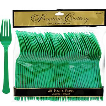 Fork 48ct Festive Green