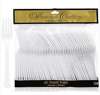 Fork 48ct Frosty White