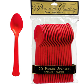 Spoon 20ct Apple Red