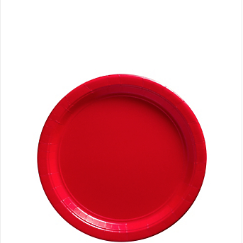 "Plate 7"" Apple Red"
