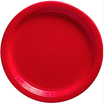 "Plate 10.25"" Apple Red"