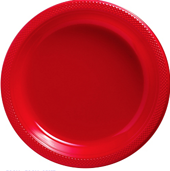 "Plate Pl 10.25"" Apple Red"
