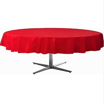 Tablecover  Plastic Round Apple Red