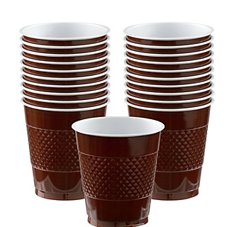 Cup Plastic 12oz Chocolate Brown