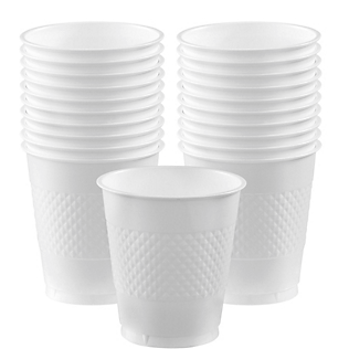 Cup Plastic 12oz Frosty White