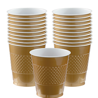 Cup Plastic 12oz Gold