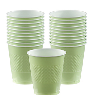 Cup Plastic 12oz Leaf Green