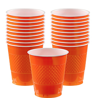 Cup Plastic 12oz Orange Peel