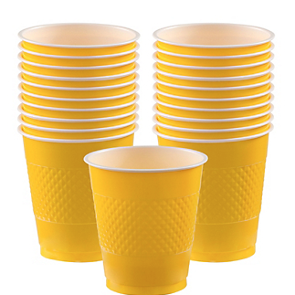 Cup Plastic 12oz Sunshine Yellow