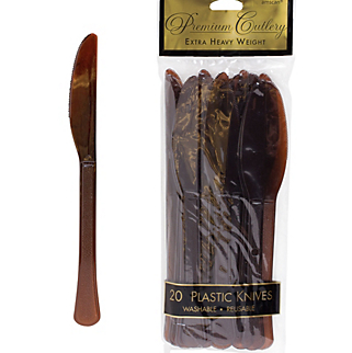 Knife 20ct Chocolate Brown