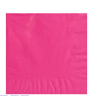 Napkin Lunch Bright Pink