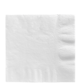 Napkin Lunch Frosty White