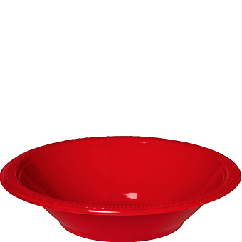 Bowl Plastic Apple Red