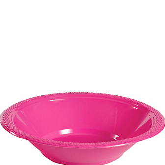 Bowl Plastic Bright Pink