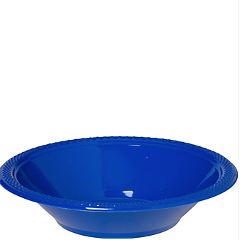 Bowl Plastic Bright Royal Blue