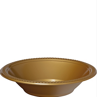 Bowl Plastic Gold