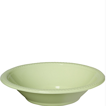 Bowl Plastic Leaf Green