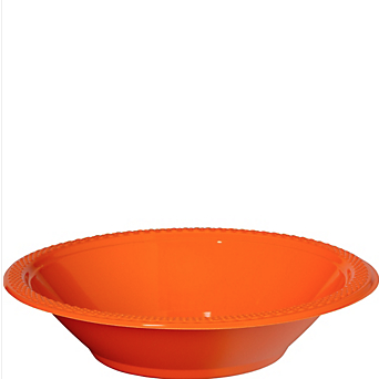 Bowl Plastic Orange Peel
