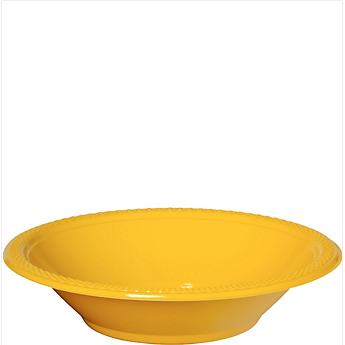 Bowl Plastic Sunshine Yellow