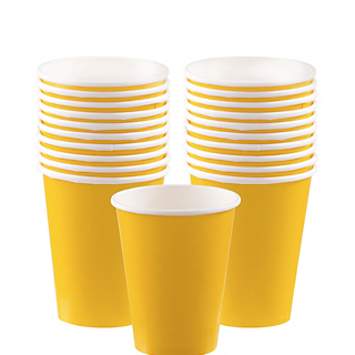 Cup 9oz Sunshine Yellow