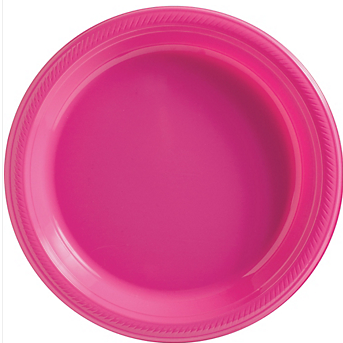 "Plate 10.25"" Bright Pink"