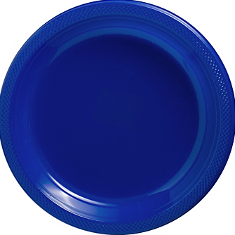 "Plate 10.25"" Bright Royal Blue"