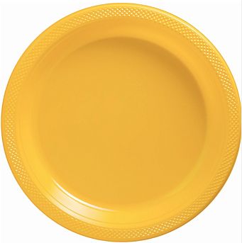 "Plate 10.25"" Sunshine Yellow"