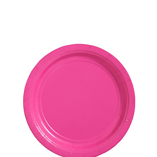 "Plate 7"" Bright Pink"