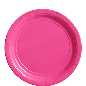 "Plate 9"" Bright Pink"