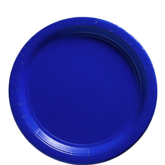 "Plate 9"" Bright Royal Blue"