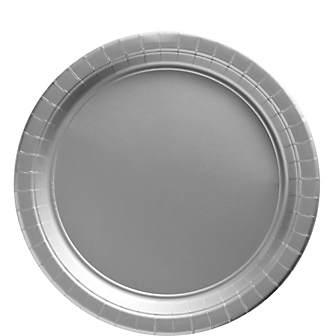 "Plate 9"" Silver"