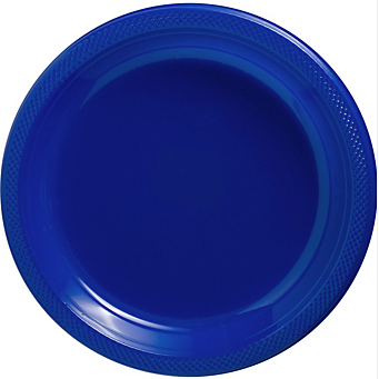 "Plate Pl 10.25"" Bright Royal Blue"