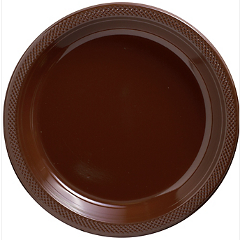 "Plate Pl 10.25"" Chocolate Brown"