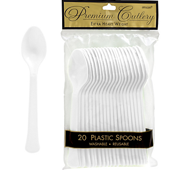 Spoon 20ct Frosty White