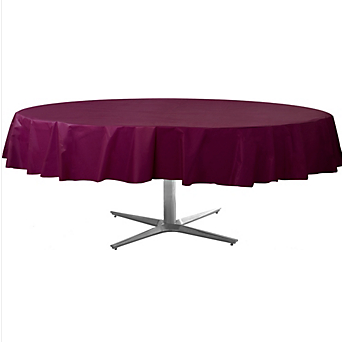 Tablecover  Plastic Round Berry