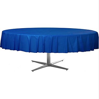 Tablecover  Plastic Round Br Royal Blue