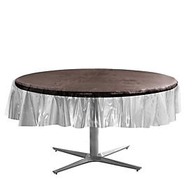 Tablecover  Plastic Round Clear
