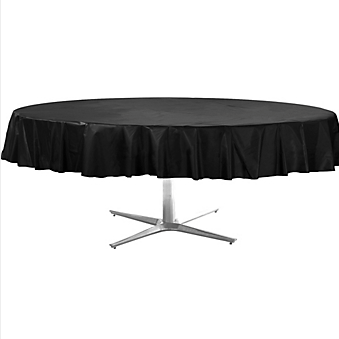Tablecover  Plastic Round Jet Black