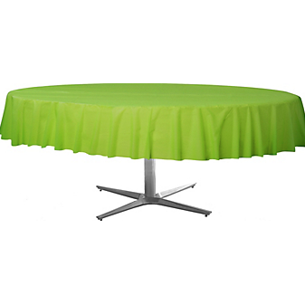 Tablecover  Plastic Round Kiwi