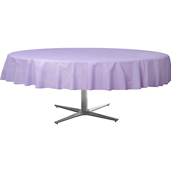 Tablecover  Plastic Round Lavender