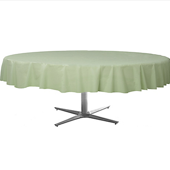Tablecover  Plastic Round Leaf Green