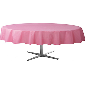 Tablecover  Plastic Round New Pink