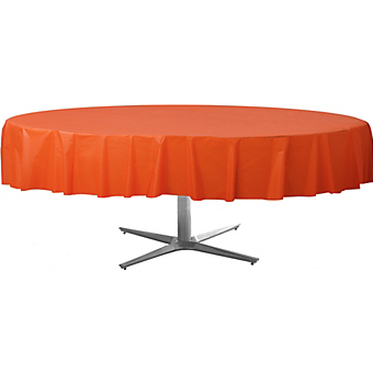 Tablecover  Plastic Round Orange Peel