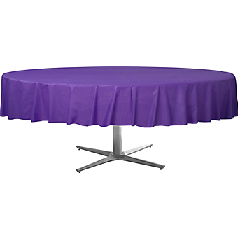 Tablecover  Plastic Round Purple