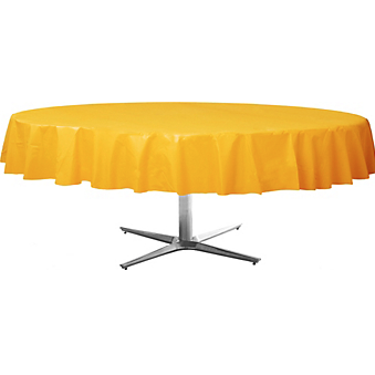 Tablecover  Plastic Round Sunshine Yellow