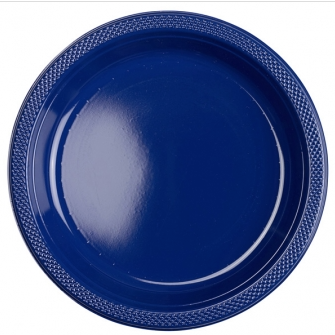 "Plate Pl 10.25"" Navy Flag"